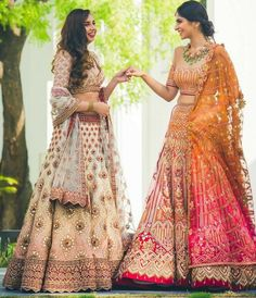 If you're really looking for some traditional craftsmanship and an eye for extreme detailing, you must opt for Tarun Tahiliani. Be it adding sparkling little crystals and Swarovski to your lehenga or . Indian Wedding Outfits, Bridal Outfits, Indian Outfits, Bridal Dresses, Indian Clothes, Flapper Dresses, Lehenga Saree, Bridal Lehenga, Anarkali