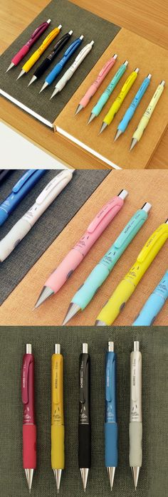 Push the top! Push the side buttons! Or, Shake the pencil! The 3-Way Mechanical Pencil provides you a colorful and cute mechanical pencil and 3 different fun ways to use it!