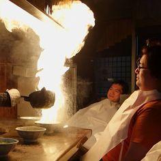 """めん馬鹿一代 (men baka ichidai) in 京都市, 京都府. Serious Eats' meant serious business when they selected this spot for their """"The 15 Best Things I Ate in Japan"""" list. They light the ramen on fire! FIRE! http://www.seriouseats.com/2012/09/best-things-to-eat-in-japan-tokyo-kiso-village-kyoto-fukuoka-slideshow.html#show-273334"""