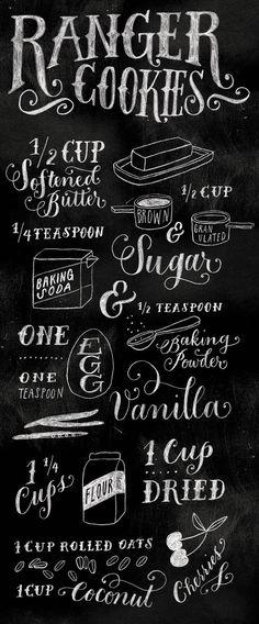 Molly Jacques Ranger cookies visual recipe