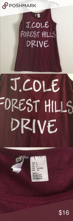 J.cole tank top Comfy j. Cole tank. Perfect condition! H&M Tops Tank Tops