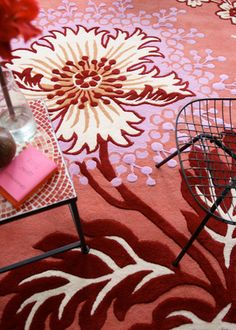 cheerful and vibrant rugs from Amy Butler