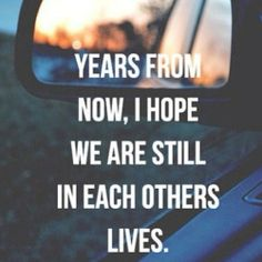 I hope all the amazing friends I have in my life now will still be in my life in the next 10 years!