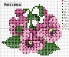 pretty flower pattern for perler beads or cross stitch Small Cross Stitch, Cross Stitch Flowers, Cross Stitch Charts, Cross Stitch Designs, Cross Stitch Patterns, Loom Patterns, Beading Patterns, Embroidery Patterns, Cross Stitching