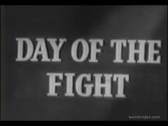 Newsreel: Stanley Kubrick's Day of the Fight - 1951