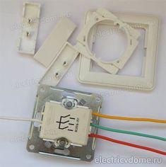 выключатель трехклавишный в разобранном состоянии