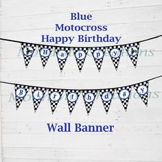 Motorcross Blue Pack of 6 Bookmarks  Birthday Christmas Gift Present  Party Bags