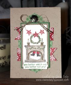 Stampin' Up! get Your Santa On Christmas Card for Stamping and Blogging