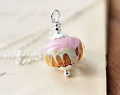 Cotton Candy Caramel Necklace Baby Pink Sterling by PoleStar,