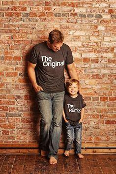 3b97c44f3 Son | Child | Dad | Original | Remix | Set | Clothing | Match | Mini Me |  Shirts | Custom | Tops and Tees | For Gift | Birthday | Unisex
