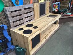 My mud kitchen in the making, ready for my ABCdoes mud table!