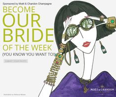 Brides: submit your wedding photo and you could be the Moët & Chandon USA Bride of the Week! Each week we'll choose one bride to be featured on ColinCowieWeddings.com... could it be you? Enter here.