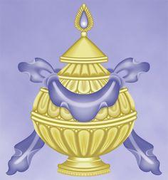 Eight Sacred Symbols: The Great Treasure Vase | The treasure vase symbolizes a long life, wealth and prosperity.