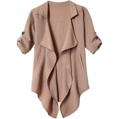 Long Sleeve Solid Color Trench Coat ($14) ❤ liked on Polyvore featuring outerwear, coats, trench coat, brown coat, brown trench coat and long sleeve coat