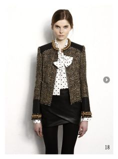 polka-dots, tweed and leather- so cute