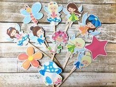 Fairy Cupcake Toppers by DianasDen on Etsy
