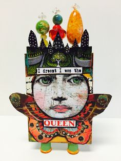 "Artist Trading Block by Kim Collister ""I dreamt I was the Queen"""