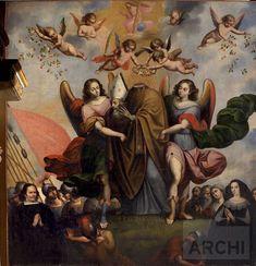 Decapitación de San Laureano | Basilio De Santa Cruz Pumacallao : Archivo Digital de Arte Peruano