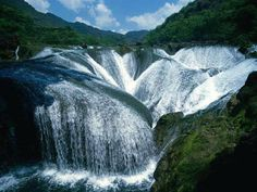 The Pearl Waterfall in China.