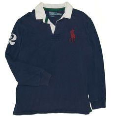 Vintage Polo Ralph Lauren Men's Shirt X-Large #2 Big Pony Rugby Long Sleeve 90's #PoloRalphLauren #PoloRugby