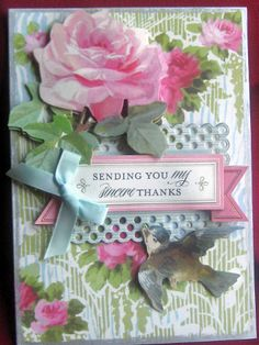 Anna Griffin TY cards #4 by ChaosMom - Cards and Paper Crafts at Splitcoaststampers |Pinned from PinTo for iPad|