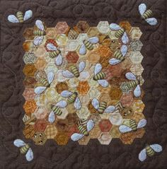 My name is Karen H and I love making scrap quilts. My favourite designs are the humble nine patch and hexagon based quilts. Paper Piecing Patterns, Quilt Patterns, Crafty Fox, Hexagon Quilt, Hexagon Pattern, Bee Embroidery, Small Sewing Projects, Miniature Quilts, Animal Quilts