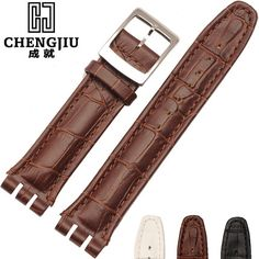 17.18$  Watch here - http://alisn6.shopchina.info/go.php?t=32774114156 - Italian Leather Watch Band For Swatch Watches Strap Wrist Band  17 19 21 23 mm Watchband Straps Clafskin Men Women Watchband  #magazineonline