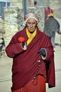 Elderly Monk in Sertar