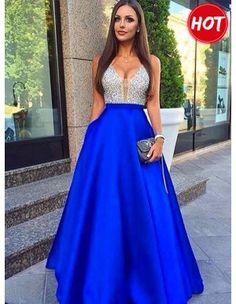 Sparkly Prom Dress, Royal Blue Long Prom Dress, 2018 Beads Long Prom Dress Evening Dress These 2020 prom dresses include everything from sophisticated long prom gowns to short party dresses for prom. Royal Blue Prom Dresses, Prom Dresses 2017, Elegant Prom Dresses, Beaded Prom Dress, Backless Prom Dresses, Formal Dresses For Women, Cheap Prom Dresses, Sexy Dresses, Long Dresses