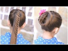 Lace braided ponytail tutorial