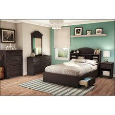 love the accent wall! Haha just said I was doing this to my bedroom with my dark furniture and all! :)
