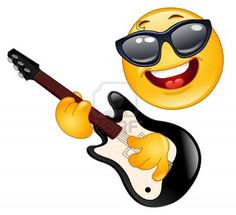 Smiley Playing Guitar