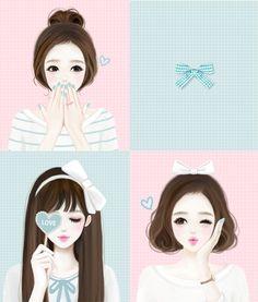 Lovely Girl – Sognando i Sogni… Girl Cartoon, Cartoon Art, Cute Cartoon, Korean Anime, Korean Art, Cute Girl Drawing, Cute Drawings, Kawaii Art, Kawaii Anime