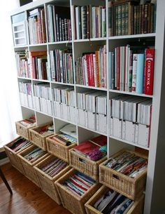IKEA Expedit - the organization capabilities are astounding Ikea Regal Expedit, Bookshelf Organization, Household Organization, Office Storage, Organization Ideas, Craft Room Storage, Sewing Rooms, Organizing Your Home, Organizing Books