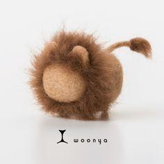 woonya【lion】 猫/cat/羊毛フェルト/Needle Felting