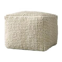 New Zealand Wool & Cotton Pouf in Natural design by BD Edition Affordable Furniture, Unique Furniture, Online Furniture, Contemporary Furniture, Modern Contemporary, Furniture Ideas, Pouf Ottoman, Pouf Chair, Ottoman Ideas