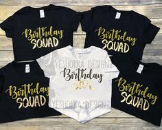 Birthday Squad Shirts Party Group Crew