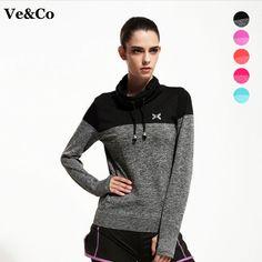 2016 새로운 도착 여성 체육관 피트니스 yoga 셔츠 압축 셔츠 여성의 스포츠 긴 소매 티 탑 camiseta yoga 코트 s-xl