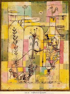 Paul Klee(1879-1940),Tale à la Hoffmann, 1921 Watercolor, ink and pencil on paper