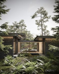 We have created a new architectural project, minimizing damage to the environment.  Materials:  ▪ Reinforced concrete ▪ Heat-treated pine ▪ Steel ▪ Black slate ▪ Brick