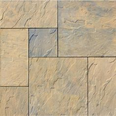 Nantucket Pavers Patio-on-a-Pallet 120 in. x 120 in. Tan Variegated Dutch York-stone Concrete Paver (Pallet of 31024 at The Home Depot - Mobile Backyard Playground, Backyard Patio, Backyard Landscaping, Pallet Patio, Outdoor Pergola, Outdoor Play, Landscaping Ideas, Outdoor Spaces, Outdoor Living