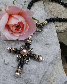 Barbara Bixby Amazing Grace Cross in Black Sapphire.  www.barbarabixby.com