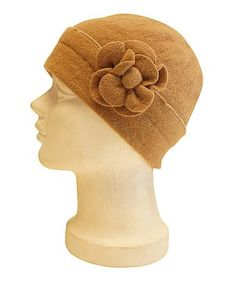 Another great find on #zulily! Camel Flower Fold-Over Wool Cloche #zulilyfinds