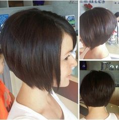 Sweet Dark Bob Haircut... if my hair was straight, i'd be wearing this style.  Love it!