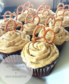 Chocolate Fudge Cupcakes with Salted Caramel Frosting