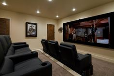 Grab some popcorn, kick back in an oversized armchair and you just might forget you aren't at the actual movie theater. The seating is tiered for an optimal viewing experience.
