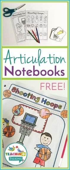 FREE articulation notebooks for speech & language therapy are perfect for working with mixed groups. Articulation Therapy, Articulation Activities, Speech Therapy Activities, Speech Language Pathology, Language Activities, Speech And Language, Sign Language, Montessori, Therapy Ideas