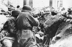 Combats dans les ruines de l'Abbaye de Monte Cassino