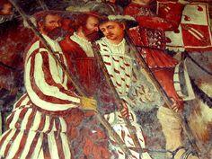 Artist: Romanino, Girolamo Romani, Title: King Christian of Denmark's visit to Malpaga in 1474, Detail, Date: unknown (1487-1559)