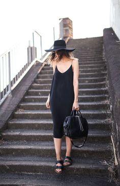 夏でも黒が着たい!「オールブラック&モノトーン」の涼しげコーディネート - NAVER まとめ